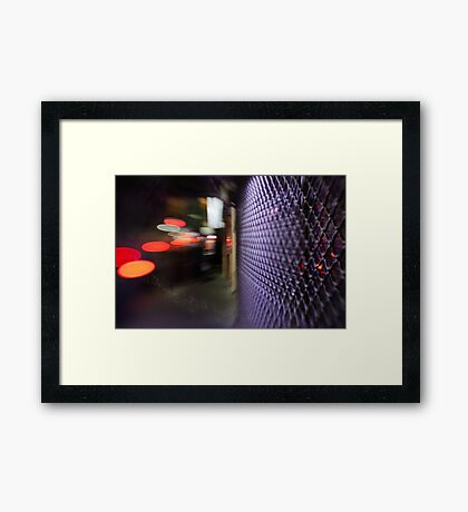 distorted colors of night Framed Print