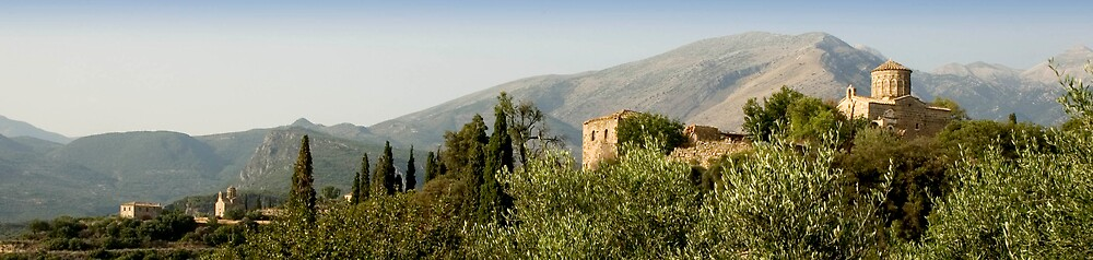 Churches Panorama, Mani Greece by duncananderson