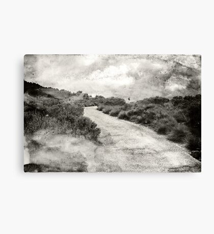 Even if you're on the right track, you'll get run over if you just sit there.... Canvas Print