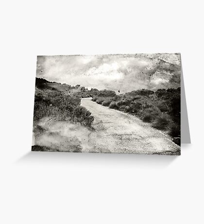 Even if you're on the right track, you'll get run over if you just sit there.... Greeting Card