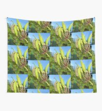 Caterpillar munching milkweed on a spring day. Wall Tapestry