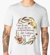 Come to Me - All You Who are Weary and Burdened Men's Premium T-Shirt
