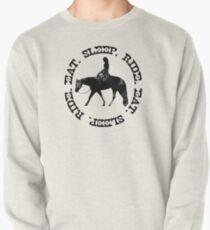 ESSEN SCHLAFEN FAHRT - Distressed Western Horse Female Rider Sweatshirt