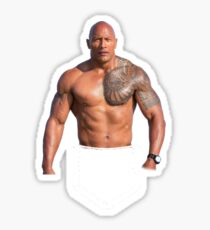 Dwayne Johnson Pocket tee Sticker