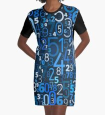 Math, Numbers Graphic T-Shirt Dress