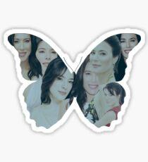Jaime Murray Butterfly FanArt Sticker