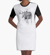 Moose Departing Graphic T-Shirt Dress