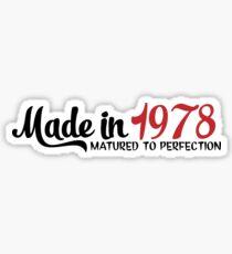 Made in 1978 Sticker