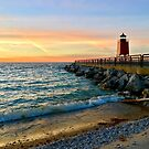 Lake Michigan beach - Charlevoix, Michigan  by Megan Noble