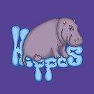 « Squashy Hippo - Blue » par Hippopottermiss