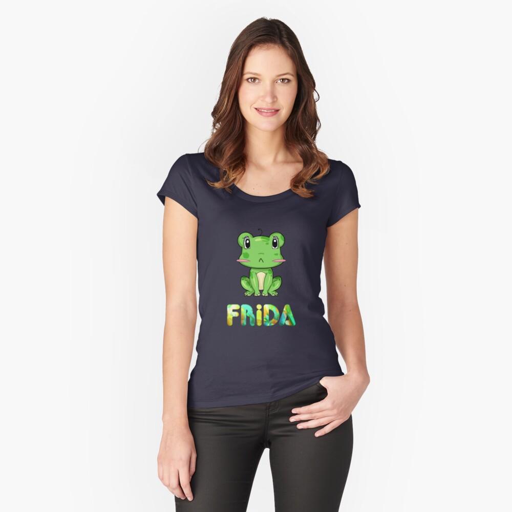 Frosch Frida Tailliertes Rundhals-Shirt