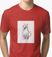 a superior cat, dignified and regal  Tri-blend T-Shirt
