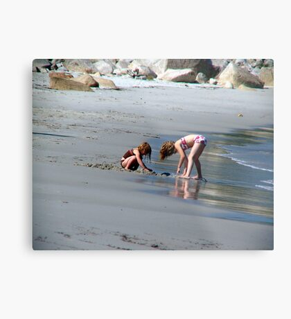 Two in the Sand Metal Print