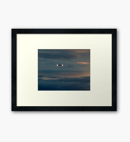 Rainy Night Flight Framed Print