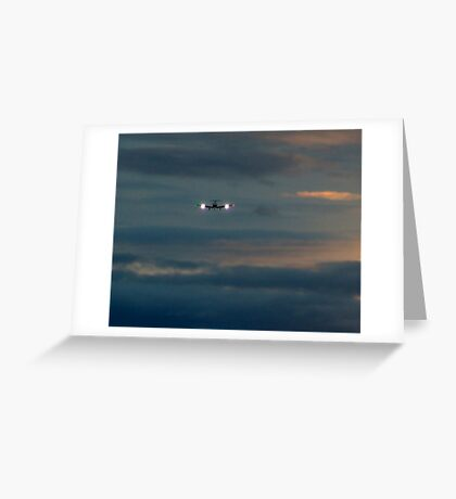 Rainy Night Flight Greeting Card