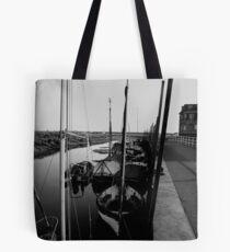 Blakeney Harbour in B&W Tote Bag