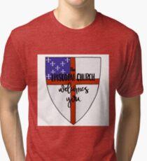 Episcopal Shield  Tri-blend T-Shirt