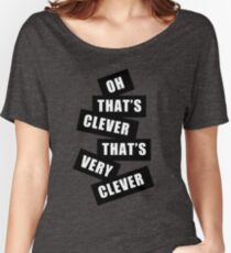 """Clever"" Women's Relaxed Fit T-Shirt"