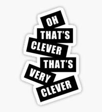"""Clever"" Sticker"