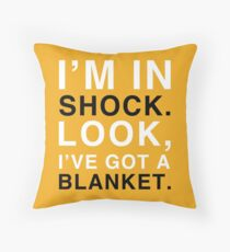 Shock Blanket Throw Pillow