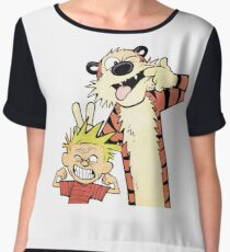 Calvin and Hobbes-Original Chiffon Top