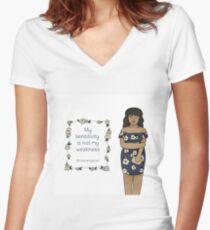 Sensitive Fitted V-Neck T-Shirt
