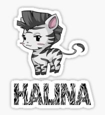 Zebra Halina Sticker
