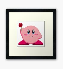 Kirby with rose Framed Print