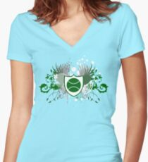 tennis : hi-fi Women's Fitted V-Neck T-Shirt