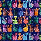 « Geometricats - Bright Colours » par Hippopottermiss