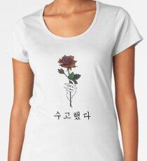 수고했다 You've done Well #RosesForJonghyun Women's Premium T-Shirt