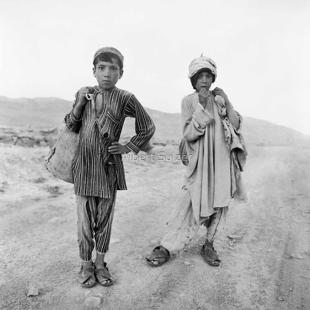 Afghanistan- Two Boys by Albert Sulzer