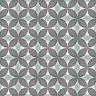 Mint Green and Gray Geometric Retro Teardrop Pattern by Eyestigmatic