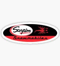 Scorpion Vintage Snowmobiles USA Sticker