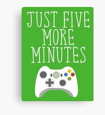 Just Five More Minutes - XB Canvas Print