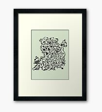 Wacky Words Black Framed Print