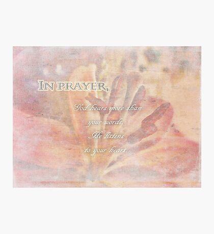In prayer-inspirational Photographic Print