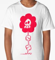 HILARIOUS TD130 Skully Flower New Product Long T-Shirt