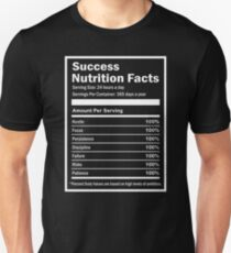 Entrepreneur Success Nutrition Facts Unisex T-Shirt