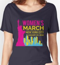 Women's March NYC January 20 2018 Women's Relaxed Fit T-Shirt