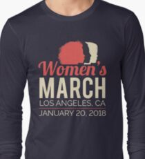 Women's March Los Angeles January 20 2018 Long Sleeve T-Shirt