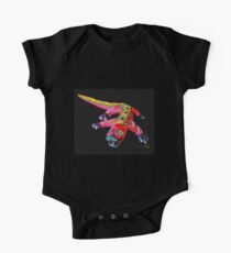 LUNGING DRAGON Short Sleeve Baby One-Piece