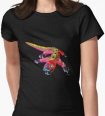 LUNGING DRAGON Fitted T-Shirt