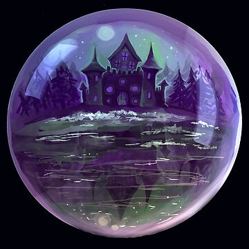 Crystal Ball Castle by adorkablyfeline