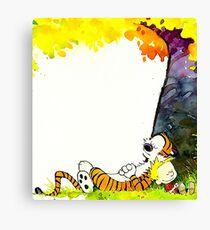 kid tiger nap Canvas Print