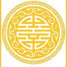 Circular Golden Seal - Chinese New Year by aidadaism