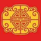 Cloud Chinese Golden Seal - Happy Chinese New Year by aidadaism