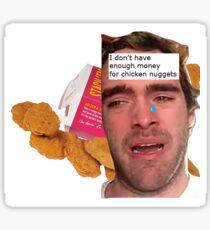 Chicken Nuggets Guy Sticker