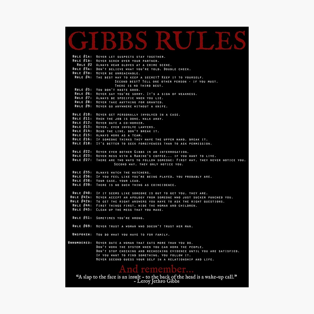 Ncis Regeln
