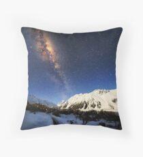 Milky Way over Mt Cook New Zealand Throw Pillow